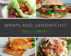 """From burritos and lettuce wraps to <a href=""""http://www.favehealthyrecipes.com/tag/Sandwiches"""" target=""""_blank"""">quick and easy sandwiches</a>, these healthy lunch recipes make it easy to eat healthy. So, they're perfect to make when you're short on time. When you need to pack for lunch or you're facing afternoon cravings, you should grab one of these <a href=""""http:..."""
