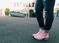 Sarah from Sassy Red Lipstick in the @jeffreycampbell Muskrat Leather Boot in Blush #cutouts || Get the booties: http://nastygal.com/product/jeffrey-campbell-muskrat-leather-boot--blush?utm_source=pinterest&utm_medium=smm&utm_term=ngdib&utm_content=omg_shoes&utm_campaign=pinterest_nastygal