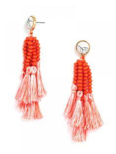 Amalfi Drops - fringe / beaded drop earrings