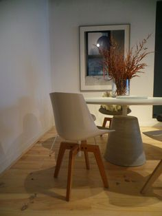Rock table & Flow chair by MDF Italia