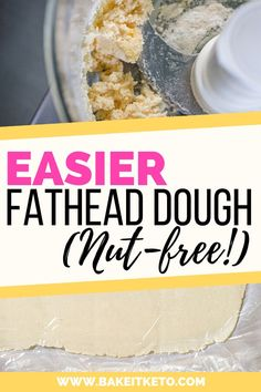 If you love Fathead pizza crust you have to try this easier nut free version made with coconut flour! Fathead dough is so versatile - use it for fathead bagels breads cinnamon rolls chips breadsticks and all kinds of low carb dessert ideas. Fat Head Pizza Crust, Fat Head Dough, Pizza Dough, Low Carb Pizza, Low Carb Bread, Low Carb Desserts, Low Carb Recipes, Diet Recipes, Diet Meals