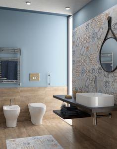 Piastrella Villa 20 x 20 cm sp. mm PEI multicolore prezzi e offerte online - Bagno House, House Bathroom, Home, Remodel, Modern Bathroom Design, Home Remodeling, Bathroom Interior, Bathroom Renovations, Bathroom Design Small