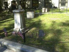 Paul Revere's grave (the small one). The larger one is a marker for his grave.