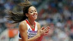 Britain's Katarina Johnson-Thompson claps her hands after a jump during her women's heptathlon high jump Group A event at the London 2012 Olympic Games at the Olympic Stadium on Aug 3, 201