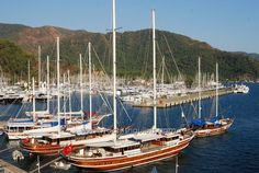 Turkish gulet cruises - Marmaris harbor
