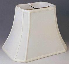 "Cut Corner Bell Silk Rectangular Lamp Shade 4/5""x6/8""x6.5""; 4.5/6""x7.5/10""x8.5""; 5/7""x8.5/12""x 9.5""; 6/8""x11/14""x11""; 7/9""x12/16""x12""; 8/10""x13/18""x13.5"""