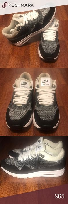 sale retailer a12a6 310b4 Nike Flyknit Air Max 1 s Nike Flyknit Air Max 1 s Slightly Worn Very  comfortable Nike Shoes