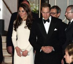Duke & Duchess of Cambridge attending a dinner on 8th May
