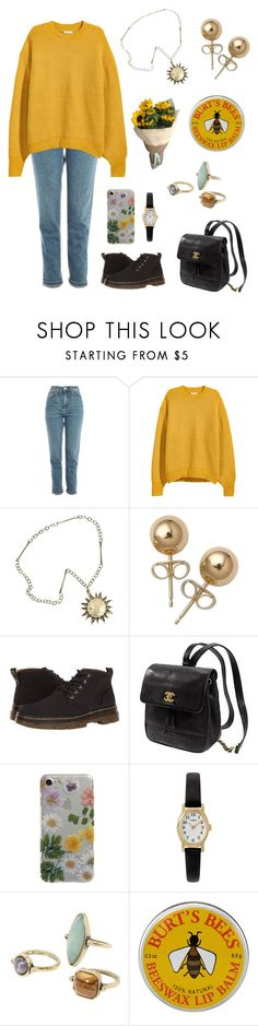 """""""Untitled #363"""" by ellie2850 ❤ liked on Polyvore featuring Topshop, H&M, Bling Jewelry, Dr. Martens, Kate Spade, Yeah Bunny, Timex, MANGO and Burt's Bees"""