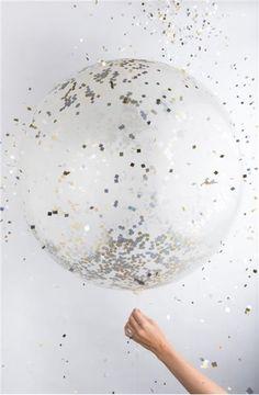 Jumbo Metallic Confetti Balloon littlemajlis.com