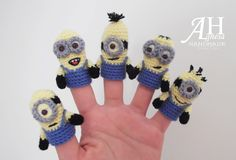 "Crochet finger puppets ""MINIONS"""