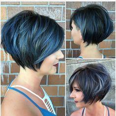 "357 Likes, 23 Comments - Katie Sanchez (@katiezimbalisalon) on Instagram: ""Brightened up @vicki_rose blonde for winter :) #undercut #bob #bobhaircut #layers #shorthair…"""