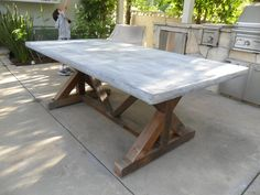 OUTDOOR TABLE from reclaimed wood USA made by Oldpine on Etsy, $1495.00