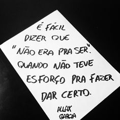 Eufragmentista Tumblr: #Frases #Citações #Textos. Crazy Love, Sad Love, Free Soul, Inspirational Phrases, Love Your Life, Facebook Sign Up, Slogan, All About Time, Funny Quotes