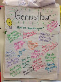 Anchored In 3rd Grade: GENIUS HOUR!!!