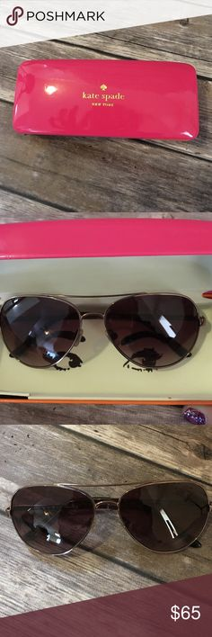 Kate Spade sunglasses Kate Spade sunglasses brown very condition kate spade Accessories Sunglasses