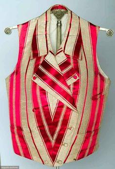 American striped silk vest, c. 1840s