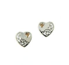 Celtic Heart Silver Earrings