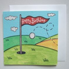 Personalised Golf Golfer Birthday Cards Greeting First Names