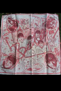 Vintage early Beatles scarf / handkerchief from Blackpool, England - probably 1963