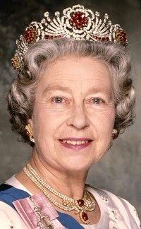 Queen Elizabeth wearing Burmese Ruby Tiara.