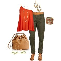 """Crazy for cargo"" by romigr99 on Polyvore"
