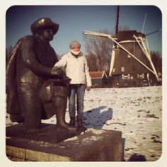 Rembrandt, mill, snow and me