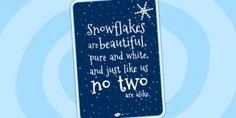 Winter teaching resources for Key Stage 1 - Year Year Created for teachers, by teachers! Professional The Seasons teaching resources. Snowflake Poem, Snowflakes, School Projects, Projects To Try, School Ideas, Early Years Topics, Christmas Poems, Primary Resources, Parent Gifts