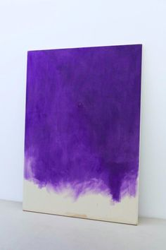 Anish Kapoor - China Landscape I, 2007 oil on canvas and smoke. #purple #color #art