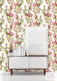 20 % OFF Cactus Removable Wallpaper / by ThinkNoirWallpaper