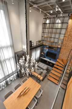 Loft T Designed by Studio Colnaghi Architects In Novo Hamburgo - Architecture and Home Decor - Bedroom - Bathroom - Kitchen And Living Room Interior Design Decorating Ideas - Home Interior, Home Decor Bedroom, Decor Interior Design, Interior Design Living Room, Interior Architecture, Industrial Chic Decor, Industrial House, Design Industrial, Industrial Interiors