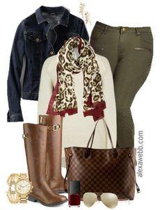 Size Outfit Idea - Khaki Skinnies Plus Size Outfit Idea - Plus Size Fashion for Women - Alexa Webb - Plus Size Outfit Idea - Plus Size Fashion for Women - Alexa Webb - Looks Chic, Looks Style, My Style, Curvy Style, Mode Outfits, Fall Outfits, Casual Outfits, Casual Clothes, Casual Wear