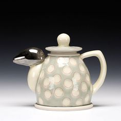 Schaller Gallery : Exhibition : FORTIFY - an exhibition to support CERF+ : Shawn Spangler : Teapot Pottery Teapots, Ceramic Teapots, Ceramic Pottery, Tea Service, Tea Ceremony, Teacups, Household Items, Old And New, Mud