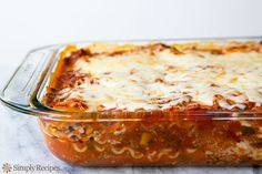 Lasagna Casserole - Officially my new go to lasagna recipe. Easy & Turned out amazing!