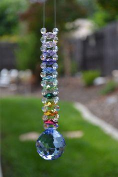 Crystal Ladder Rainbow Suncatcher -Rainbow Crystal Suncatchers by Krystal Kat's www.krystalkats.com