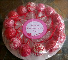 Cake Pops  Red Valentine's Day Cake Pops by SimplyDivineDesserts, $26.50