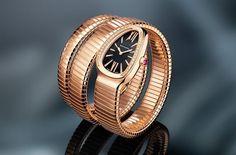 Bulgari rose gold watch from Pierre's de Julie