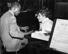 Barbra Streisand Louis Armstrong and Barbra Streisand rehearse the title song, which is performed during the memorable Harmonia Gardens sequence. I M The Greatest, Oscar Wins, Louis Armstrong, Barbra Streisand, Music Composers, Original Song, Best Actress, Feature Film, Girl Humor