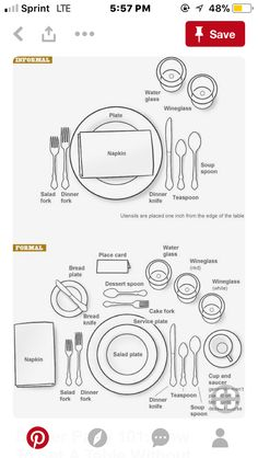 How To Set your Formal and Informal Table | Pinterest | Formal ...