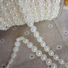 1M Blomster Faux Pearl Garlands for Wedding Decoration – NOK kr. 44