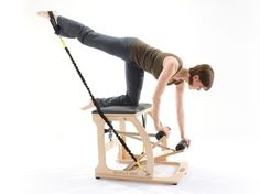 Whenever it relates to basic fitness workout routines, you don't actually have to attend the gym to obtain the full effects of exercising. It is easy to tone, shape, and transform your body using some easy steps. Workout routines for beginners. Pilates Chair, Pop Pilates, Pilates Video, Pilates Studio, Pilates Workout, Gym Workouts, Workout Routines, Chair Workout, Pilates Moves
