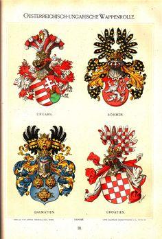 Österreichisch Ungarische Wappenrolle 1890, Hugo Gerhard Ströhl, page 3.