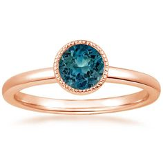 14K Rose Gold Sapphire Sierra Ring from Brilliant Earth