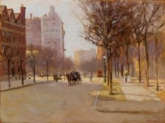 Artwork by Paul Cornoyer, A Spring Day, New York, Made of oil on canvas