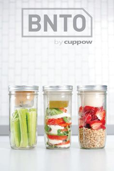 BNTO by Cuppow separates wet stuff from dry stuff in a mason jar so you can take the good stuff anywhere you want. 100% Recycled, Made in the USA, and always Free Shipping!