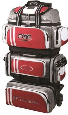 Storm Rolling Thunder 6 Ball Roller Red/Grey/White by Storm. Storm Rolling Thunder 6 Ball Roller Red/Grey/White.