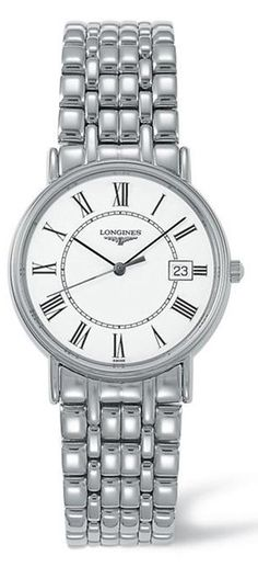L4.720.4.11.6, L47204116, Longines presence watch, mens