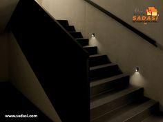 #hogar LAS MEJORES CASAS DE MÉXICO. Hay muchas formas de hacer lucir las escaleras de su hogar y la más original es la que usa la iluminación, tanto decorativa como para evitar caídas al pisar los escalones, pues se pueden colocar lámparas en un nivel bajo de la pared justo en cada escalón. Le invitamos a ser parte de la experiencia Sadasi, al comprar su hogar en nuestros desarrollos. www.sadasi.com