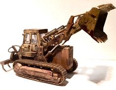 Caterpillar 983B 1:48 scale dozer by CCM. Weathered by Calvin A Bensch II of Buford's Barn Cars.