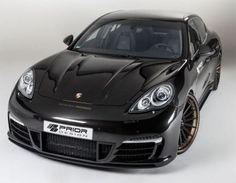 Porsche Panamera by Prior Design Prior Design creates the It is a styling program for the Porsche Panamera. Porsche Panamera, New Porsche, Car Photos, Vans, Vehicles, Design, Body Kits, Concept, Facebook